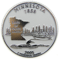 Minnesota State Quarter Magnet by Classic Magnets, Collectible Souvenirs Made in the USA