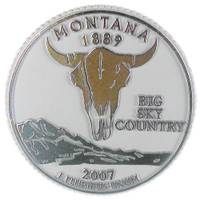 Montana State Quarter Magnet by Classic Magnets, Collectible Souvenirs Made in the USA