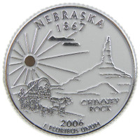 Nebraska State Quarter Magnet by Classic Magnets, Collectible Souvenirs Made in the USA