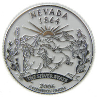 Nevada State Quarter Magnet by Classic Magnets, Collectible Souvenirs Made in the USA