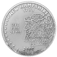 New Hampshire State Quarter Magnet by Classic Magnets, Collectible Souvenirs Made in the USA