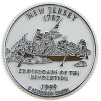 New Jersey State Quarter Magnet by Classic Magnets, Collectible Souvenirs Made in the USA