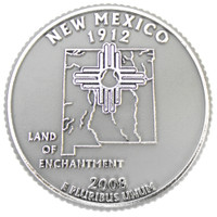 New Mexico State Quarter Magnet by Classic Magnets, Collectible Souvenirs Made in the USA