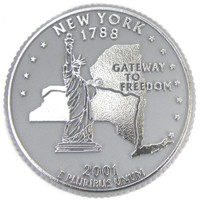 New York State Quarter Magnet by Classic Magnets, Collectible Souvenirs Made in the USA