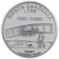 North Carolina State Quarter Magnet by Classic Magnets, Collectible Souvenirs Made in the USA