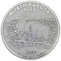 North Dakota State Quarter Magnet by Classic Magnets, Collectible Souvenirs Made in the USA
