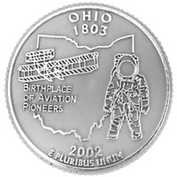 Ohio State Quarter Magnet by Classic Magnets, Collectible Souvenirs Made in the USA