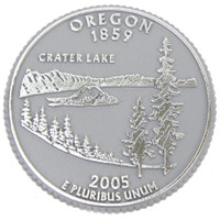 Oregon State Quarter Magnet by Classic Magnets, Collectible Souvenirs Made in the USA