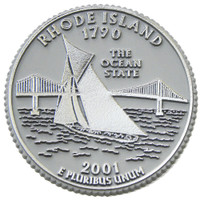 Rhode Island State Quarter Magnet by Classic Magnets, Collectible Souvenirs Made in the USA