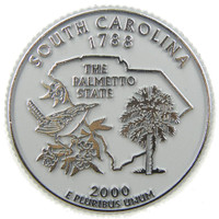 South Carolina State Quarter Magnet by Classic Magnets, Collectible Souvenirs Made in the USA
