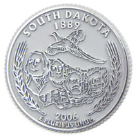 South Dakota State Quarter Magnet by Classic Magnets, Collectible Souvenirs Made in the USA