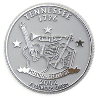 Tennessee State Quarter Magnet by Classic Magnets, Collectible Souvenirs Made in the USA