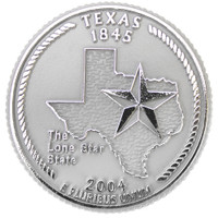 Texas State Quarter Magnet by Classic Magnets, Collectible Souvenirs Made in the USA