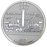 Utah State Quarter Magnet by Classic Magnets, Collectible Souvenirs Made in the USA