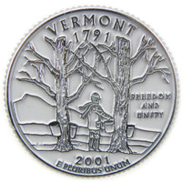 Vermont State Quarter Magnet by Classic Magnets, Collectible Souvenirs Made in the USA