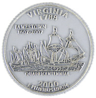 Virginia State Quarter Magnet by Classic Magnets, Collectible Souvenirs Made in the USA