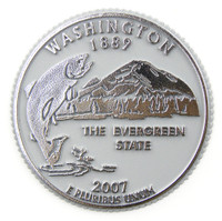 Washington State Quarter Magnet by Classic Magnets, Collectible Souvenirs Made in the USA