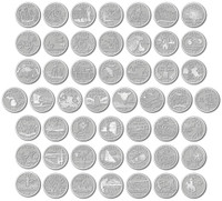 U.S. State Quarter Magnet Collection by Classic Magnets, 50-Piece Set, Collectible Souvenirs Made in the USA