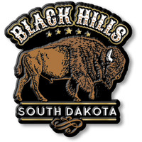 Black Hills South Dakota Bison Magnet by Classic Magnets, Regional America Series, Collectible Souvenirs Made in the USA