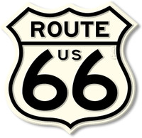 Giant Route 66 Shield Highway Sign Magnet by Classic Magnets, Collectible Souvenirs Made in the USA