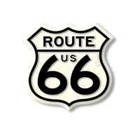 Small Route 66 Shield Highway Sign Magnet by Classic Magnets, Collectible Souvenirs Made in the USA