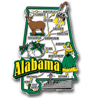 Alabama Jumbo State Magnet by Classic Magnets, Collectible Souvenirs Made in the USA