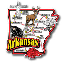 Arkansas Jumbo State Magnet by Classic Magnets, Collectible Souvenirs Made in the USA