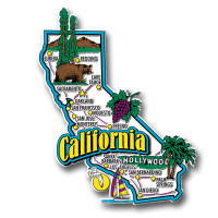 California Jumbo State Magnet by Classic Magnets, Collectible Souvenirs Made in the USA