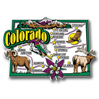 Colorado Jumbo State Magnet by Classic Magnets, Collectible Souvenirs Made in the USA
