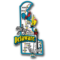 Delaware Jumbo State Magnet by Classic Magnets, Collectible Souvenirs Made in the USA