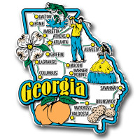 Georgia Jumbo State Magnet by Classic Magnets, Collectible Souvenirs Made in the USA