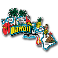 Hawaii Jumbo State Magnet by Classic Magnets, Collectible Souvenirs Made in the USA