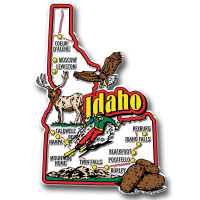 Idaho Jumbo State Magnet by Classic Magnets, Collectible Souvenirs Made in the USA