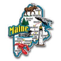 Maine Jumbo State Magnet by Classic Magnets, Collectible Souvenirs Made in the USA