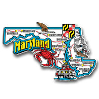 Maryland Jumbo State Magnet by Classic Magnets, Collectible Souvenirs Made in the USA