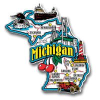 Michigan Jumbo State Magnet by Classic Magnets, Collectible Souvenirs Made in the USA