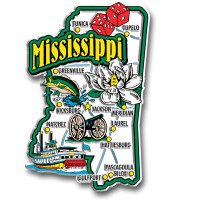 Mississippi Jumbo State Magnet by Classic Magnets, Collectible Souvenirs Made in the USA