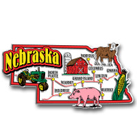 Nebraska Jumbo State Magnet by Classic Magnets, Collectible Souvenirs Made in the USA