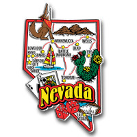 Nevada Jumbo State Magnet by Classic Magnets, Collectible Souvenirs Made in the USA