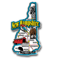 New Hampshire Jumbo State Magnet by Classic Magnets, Collectible Souvenirs Made in the USA