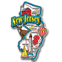 New Jersey Jumbo State Magnet by Classic Magnets, Collectible Souvenirs Made in the USA