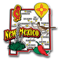 New Mexico Jumbo State Magnet by Classic Magnets, Collectible Souvenirs Made in the USA