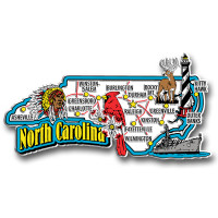 North Carolina Jumbo State Magnet by Classic Magnets, Collectible Souvenirs Made in the USA