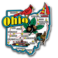Ohio Jumbo State Magnet by Classic Magnets, Collectible Souvenirs Made in the USA
