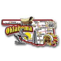 Oklahoma Jumbo State Magnet by Classic Magnets, Collectible Souvenirs Made in the USA