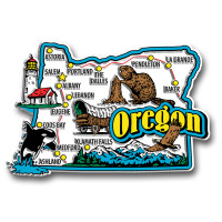 Oregon Jumbo State Magnet by Classic Magnets, Collectible Souvenirs Made in the USA