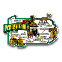 Pennsylvania Jumbo State Magnet by Classic Magnets, Collectible Souvenirs Made in the USA