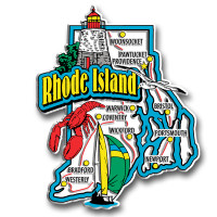 Rhode Island Jumbo State Magnet by Classic Magnets, Collectible Souvenirs Made in the USA