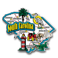 South Carolina Jumbo State Magnet by Classic Magnets, Collectible Souvenirs Made in the USA