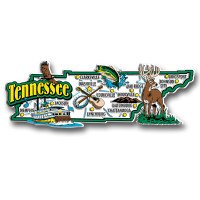 Tennessee Jumbo State Magnet by Classic Magnets, Collectible Souvenirs Made in the USA